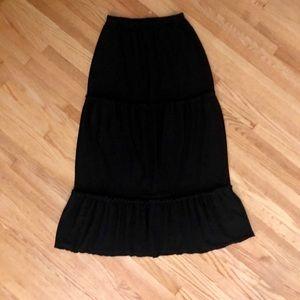 Saint Tropez West Black Maxi Skirt